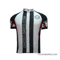 2011 GHOST Black And White Team Short Sleeve Cycling Jersey TJ-263-0988 For Sale